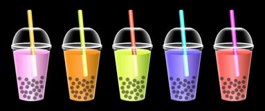 Soft drink cup with juice inside Royalty Free Stock Photography