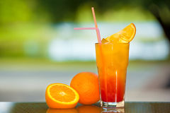 Soft drink and fruit. Royalty Free Stock Image