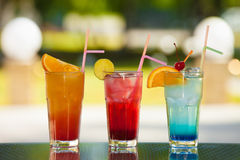 Soft drink and fruit. Royalty Free Stock Photo