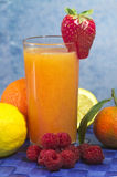 Soft drink with fruits selection Stock Photo