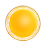 Soft drink in glass. Top view Stock Image