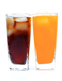 Soft-drink glasses Royalty Free Stock Photography