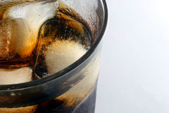 Soft drink with ice Royalty Free Stock Photo