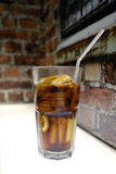 Soft Drink and Ice. A Glass of Soft Drink and Ice Royalty Free Stock Photos