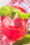 Soft drink with ice and mint. Refreshing non-alcoholic soft drink with ice and mint Stock Photography