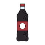 Soft drink icon. Soft drink bottle icon over white background. colorful design. vector illustration Royalty Free Stock Photo