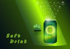Soft Drink Kiwi royalty free illustration