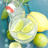 Soft drink, lemon fruits Royalty Free Stock Images