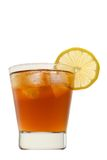 Soft drink with lemon isolated royalty free stock images