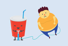 Soft drink made you fat fast Stock Photo
