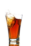 Soft drink with a splash Royalty Free Stock Photo