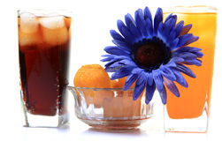 Soft-drink and sweets Royalty Free Stock Photos