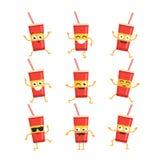 Soft Drink - vector set of mascot illustrations. Stock Photos