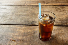 Soft drink on wood table. Stock Photo