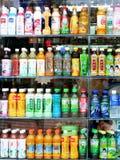 Soft drinks. Show window,shenzhen city,china Stock Images
