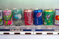 Soft drinks, Coca Cola, Pepsi and 7up Stock Images