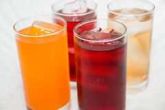 Soft  drinks in glasses. Juice for a healthy Stock Image