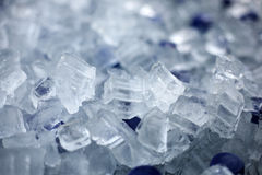 Soft drinks in ice. Royalty Free Stock Photography