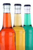 Soft drinks with lemonade in bottles isolated Stock Photos