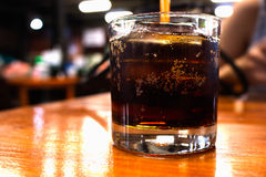 Soft drinks at night restaurant Royalty Free Stock Photos