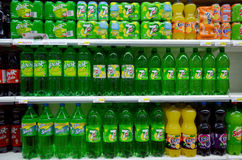 Soft drinks for sale Royalty Free Stock Photos