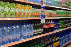 Soft drinks  in the store Royalty Free Stock Image