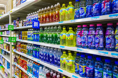 Soft drinks in supermarkets. Photographed in Mianyang Stock Photography