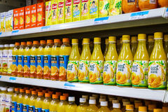 Soft drinks in supermarkets. Photographed in Mianyang Royalty Free Stock Photography