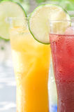 Soft drinks. Taken on a simple shade of outdoor soft drinks Royalty Free Stock Images
