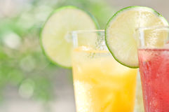 Soft drinks. Taken on a simple shade of outdoor soft drinks Royalty Free Stock Photos