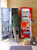 Soft drinks vending machines and mechanic Stock Photography