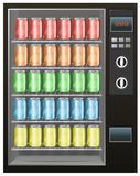 Soft drinks in the vendor machine Royalty Free Stock Photos