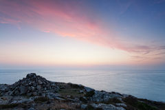 Soft dusk light on Pembrokeshire coast Royalty Free Stock Photography