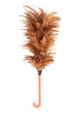 Soft duster. With plastic handle on white background royalty free stock images