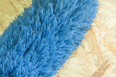 Soft duster hairs blue Stock Photo