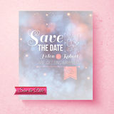 Soft ethereal Save The Date wedding template Stock Images