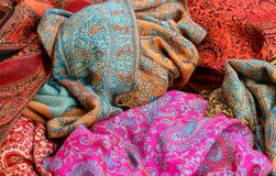 Soft fabric for ethnic scarves for sale Stock Images