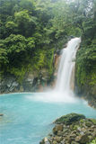 Soft Falls. Soft blue waterfalls in Costa Rica Royalty Free Stock Photos