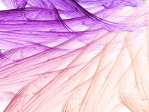 Soft and Feathered. Soft beautiful pink and purple feathering out, in this abstract fractal Stock Photo