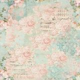 Vintage Floral Collage Background - Damask - Cottage Roses - Pink - Shabby Chic Paper. Soft and feminine collage background paper featuring multiple layers and stock illustration