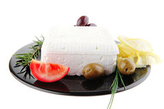Soft feta cheese Royalty Free Stock Photography