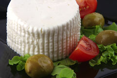 Soft feta cheese with tomatoes Royalty Free Stock Photos