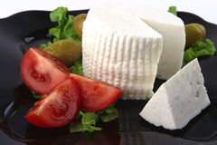 Soft feta cheese with tomatoes Stock Image