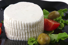 Soft feta cheese with tomatoes Royalty Free Stock Photo