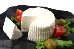 Soft feta cheese with tomatoes Royalty Free Stock Image