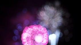 Soft Fireworks stock footage