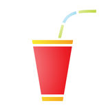 Soft Fizzy Drink Icon Royalty Free Stock Photography