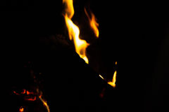 Soft Flame Texture. Soft focus of fire flames texture on a dark background Royalty Free Stock Photo