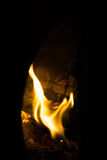Soft Flame Texture. Soft focus of fire flames texture on a dark background Royalty Free Stock Images