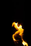 Soft Flame Texture. Soft focus of fire flames texture on a dark background Stock Photography
